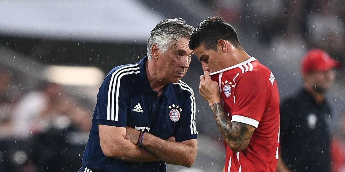 Lo que llevó al Bayern a echar a Carlo Ancelotti, ¿James, un culpable?