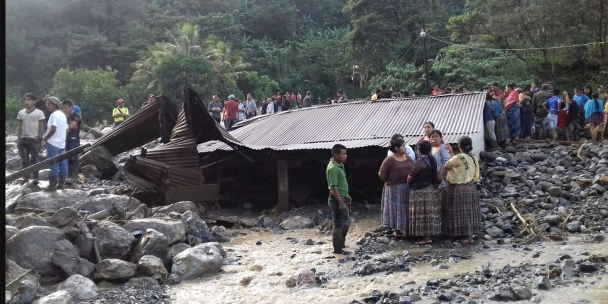 Desbordamiento de río en Alta Verapaz deja dos fallecidos y ocho desaparecidos