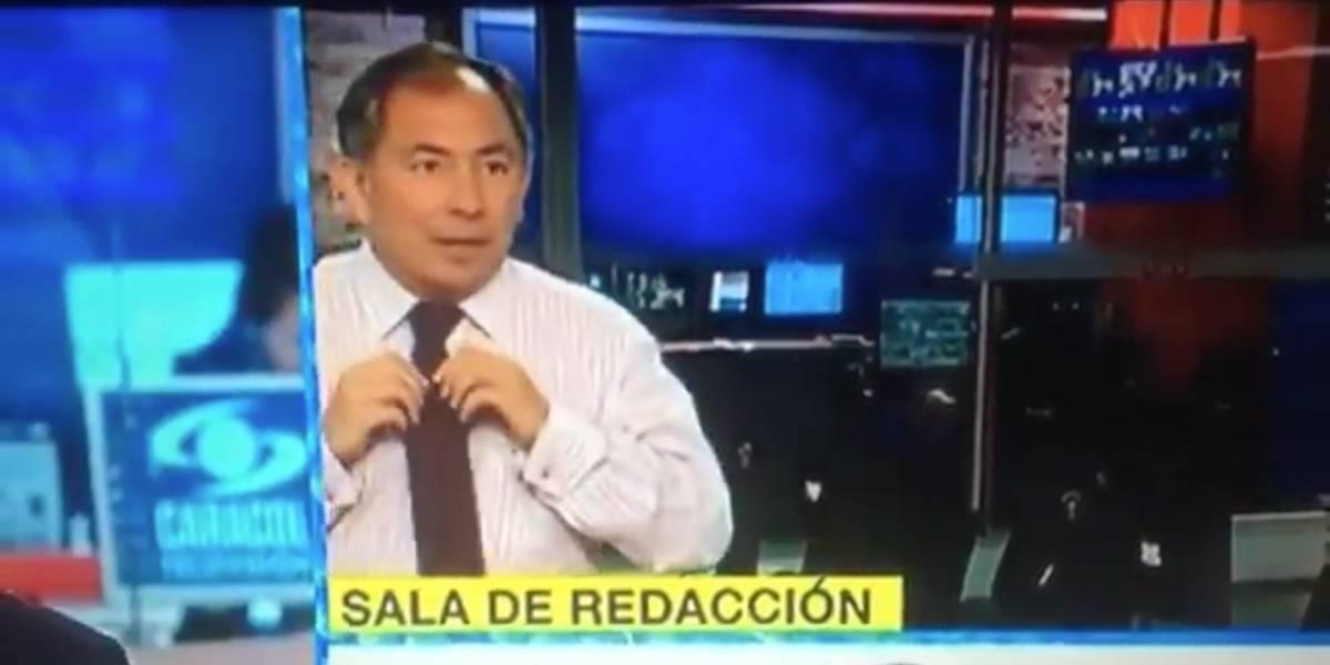 El divertido chascarro de un periodista en las noticias colombianas