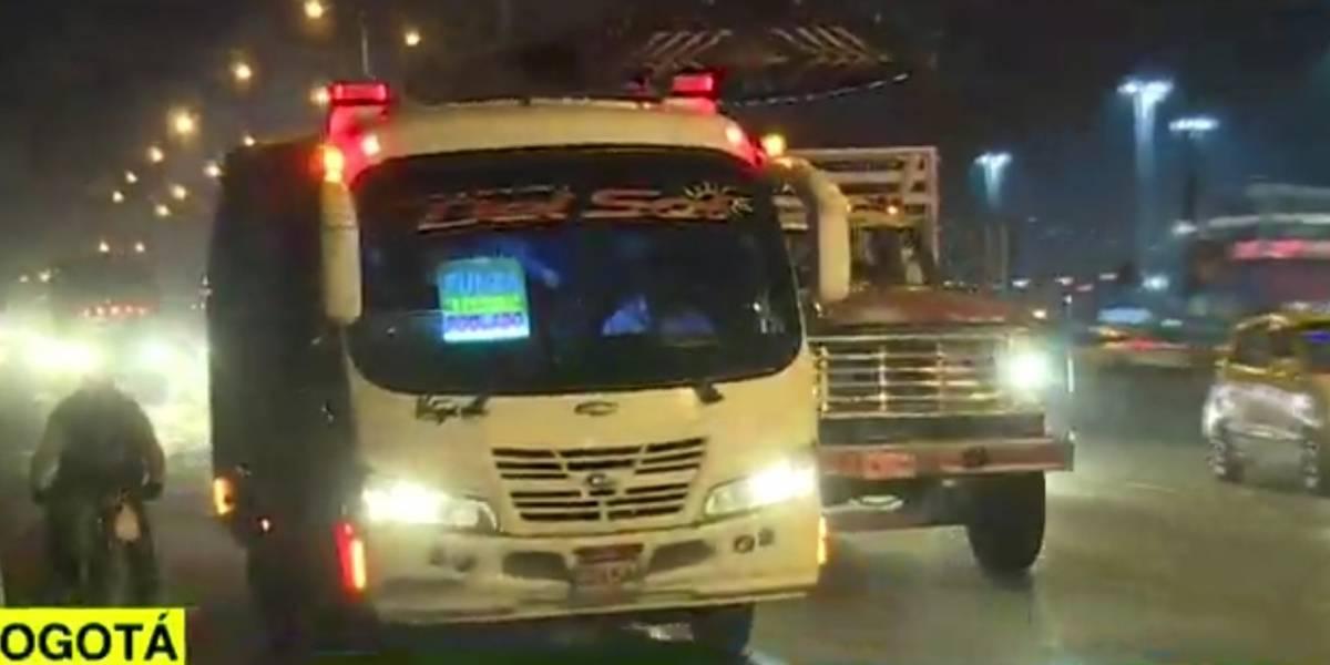 Tres delincuentes robaron a pasajeros de un bus intermunicipal en Bogotá