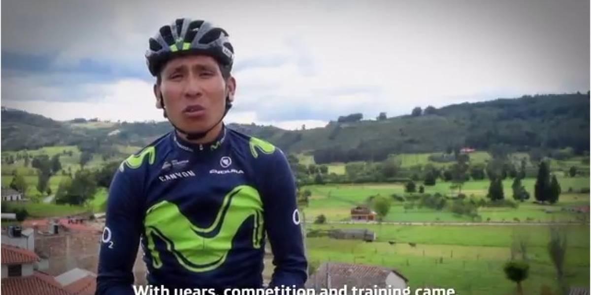 El video de Nairo Quintana para motivar a los jóvenes de todo el país