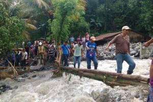 Desbordamiento de río en Tamahú, Alta Verapaz