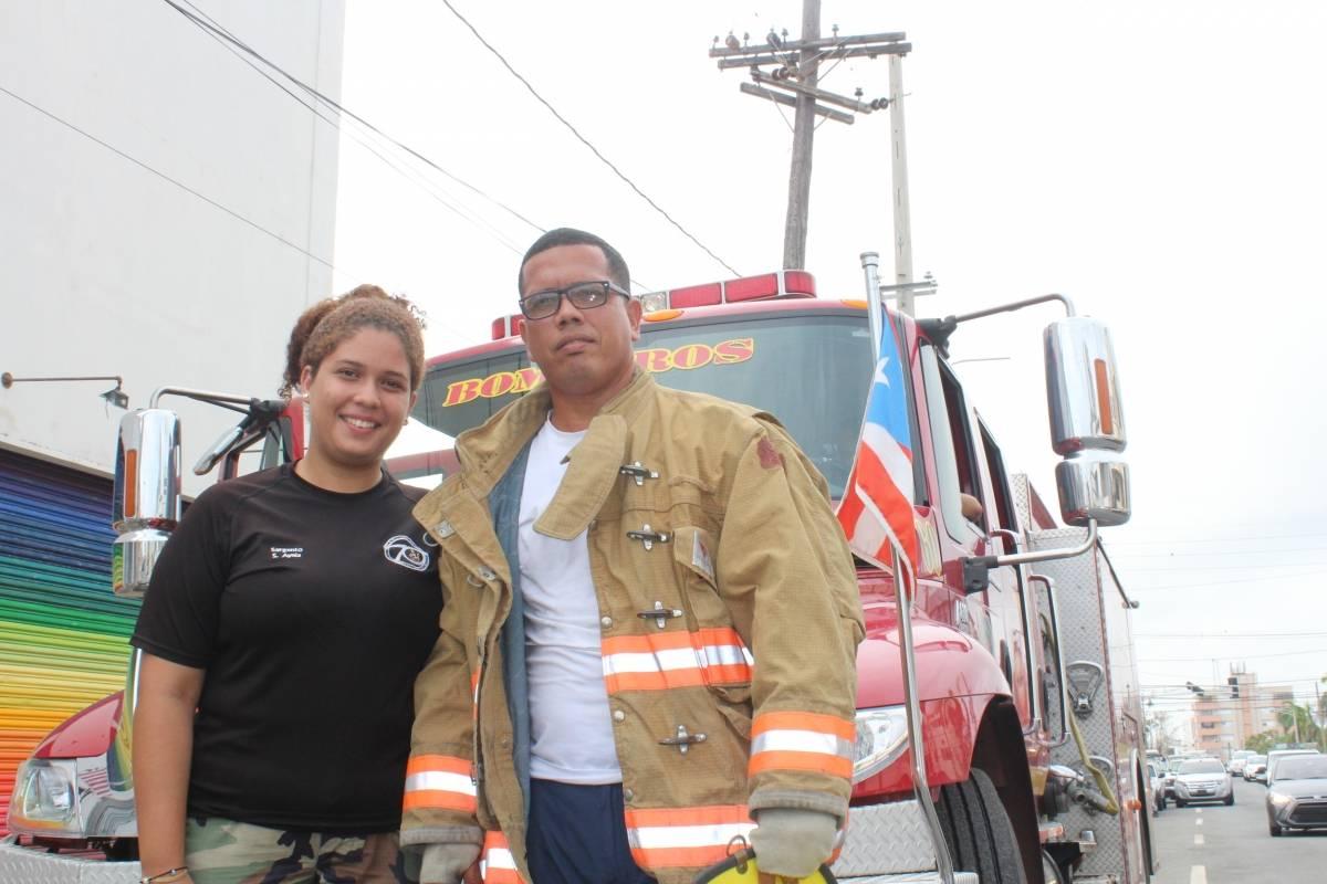 Sannette realiza labores como voluntaria junto a su padre, el teniente Santos Ayala, del Cuerpo de Bomberos de Puerto Rico. / Foto: Miguel De Jesús