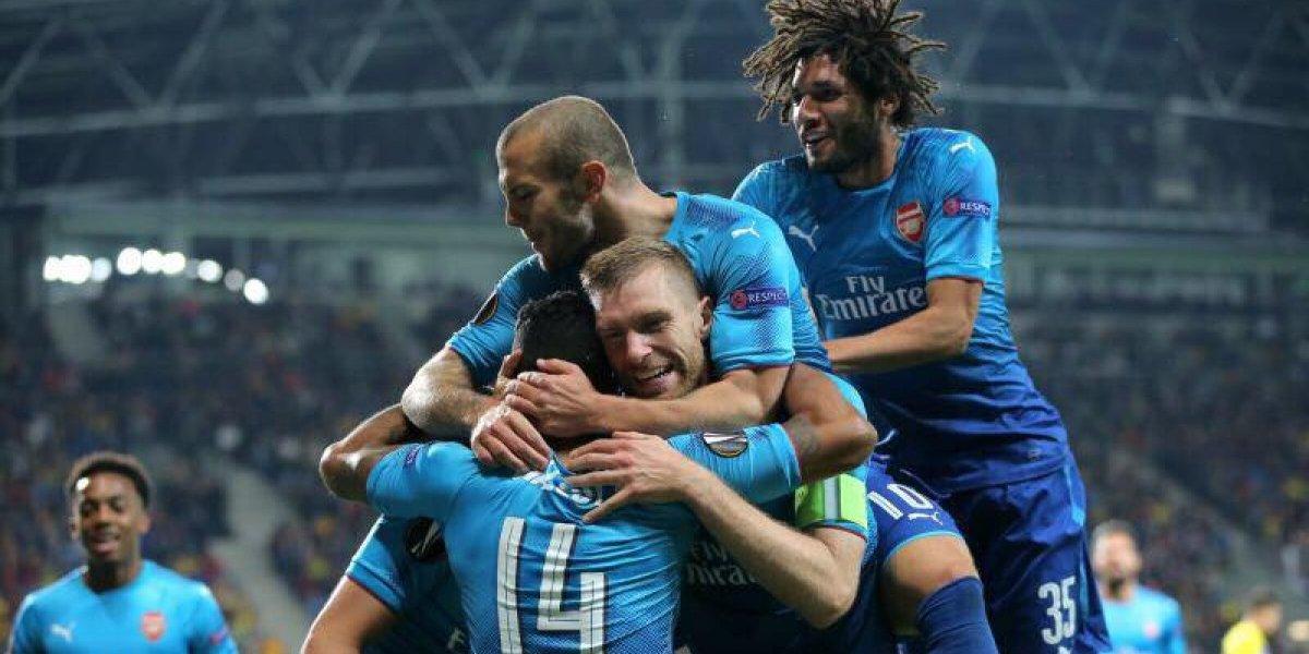 Estrella del Arsenal alcanza los 100 goles en el triunfo ante el BATE Borisov