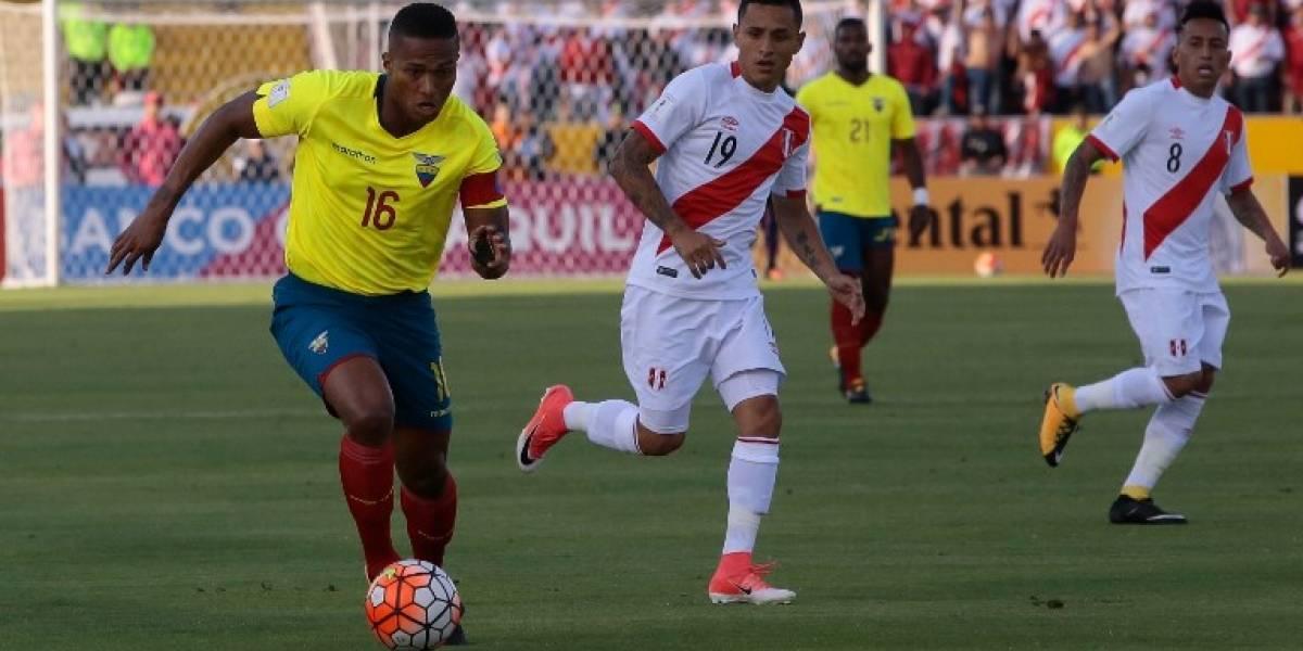 Ecuador podría sufrir la baja de Antonio Valencia para el duelo ante Chile