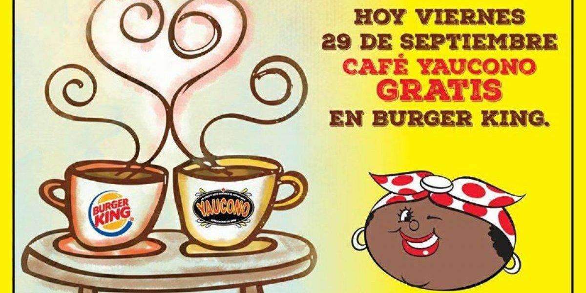 Café Yaucono y Burger King te invitan a un café