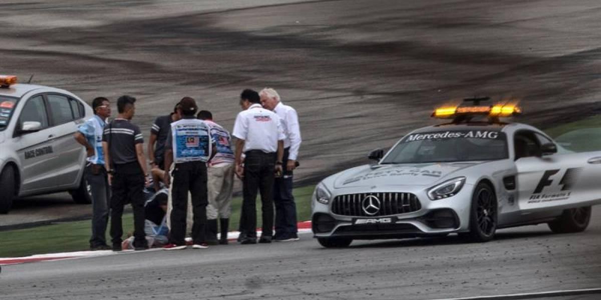 El grave accidente que provocó una tapa de alcantarilla en la Fórmula 1