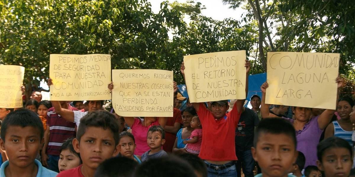 CIDH otorga medida cautelar a los desalojados y desplazados en Petén
