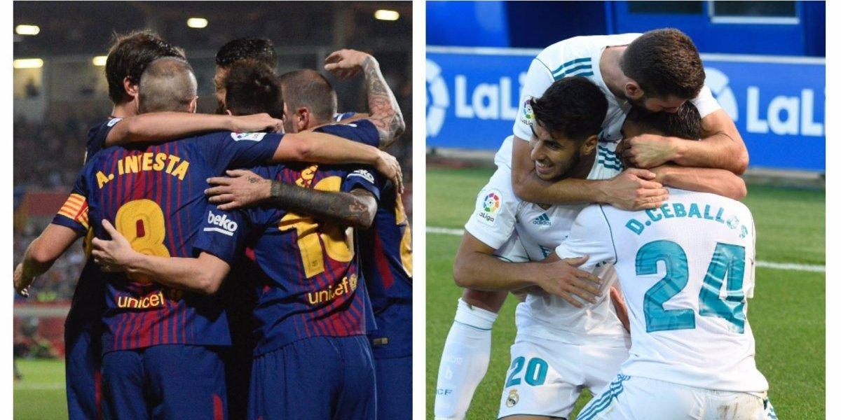 El Barcelona y el Real Madrid buscarán un nuevo festejo en la Liga española