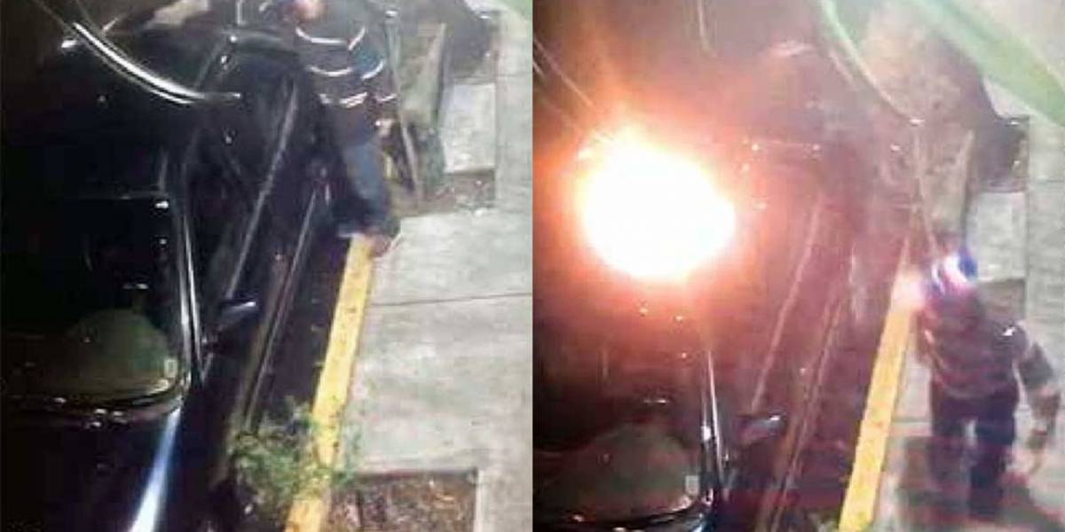 Taxistas acosan sexualmente a mujer e incendian su auto