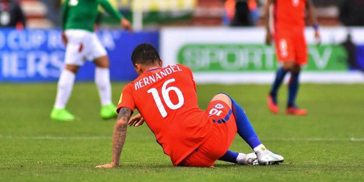 Otro golpe para Pizzi: Se lesionó el Tucu Hernández y quedaría fuera de la fecha decisiva para la Roja