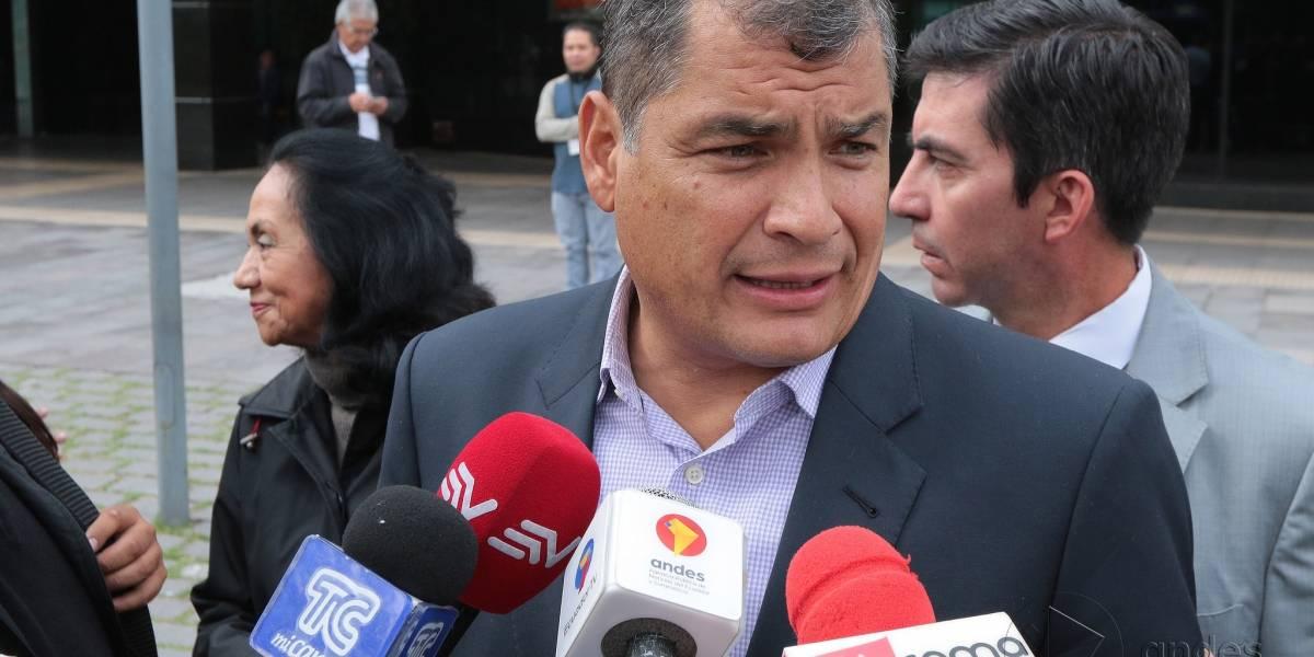 Expresidente Rafael Correa defiende a Glas y Rivera