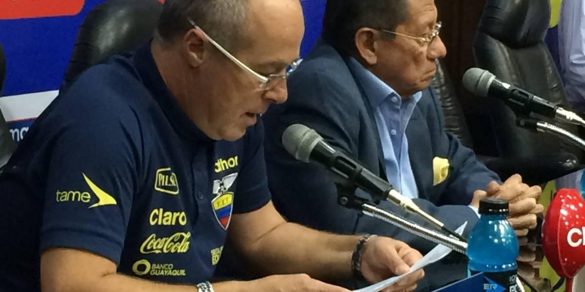 """Célico: Ecuador va a buscar el triunfo en Chile """"porque todavía tiene vida"""""""