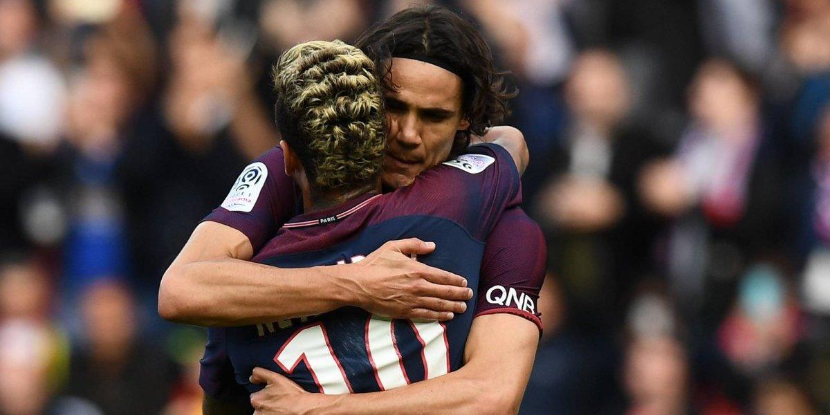 PSG goleó en la reconciliación de Neymar con Cavani