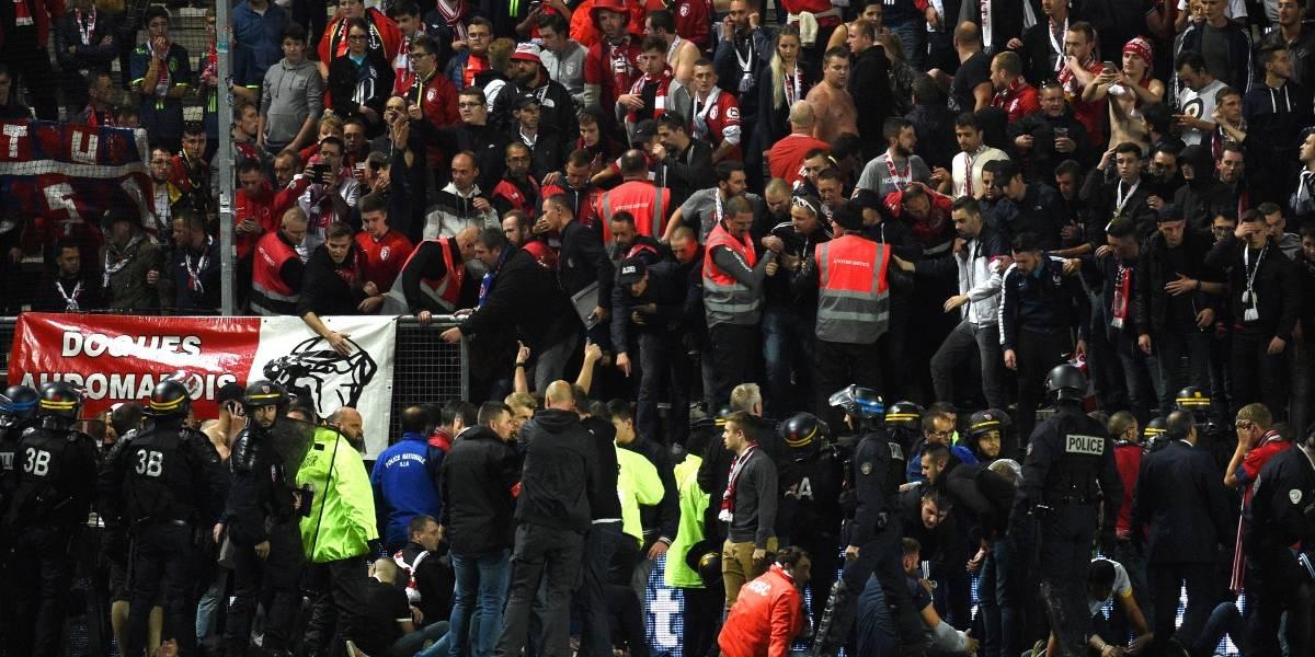De la alegría a la tragedia: El gol del Lille de Bielsa provocó el derrumbe de una tribuna