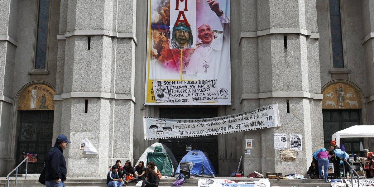 Arzobispado de Concepción anunció fin de la toma de la catedral en apoyo a comuneros mapuche