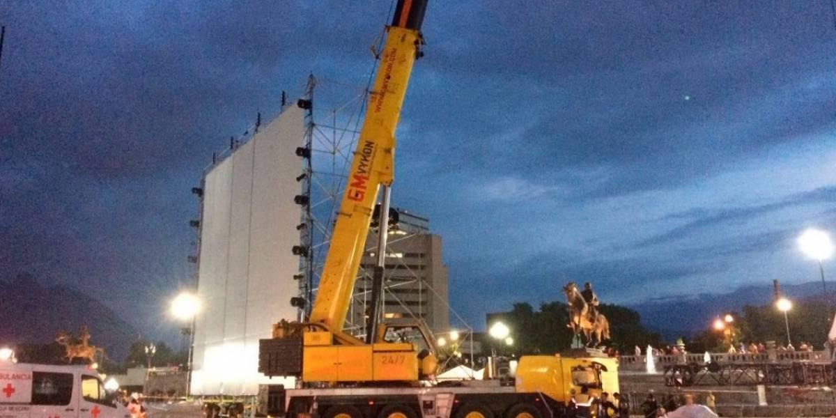Muere acróbata durante festival en Monterrey
