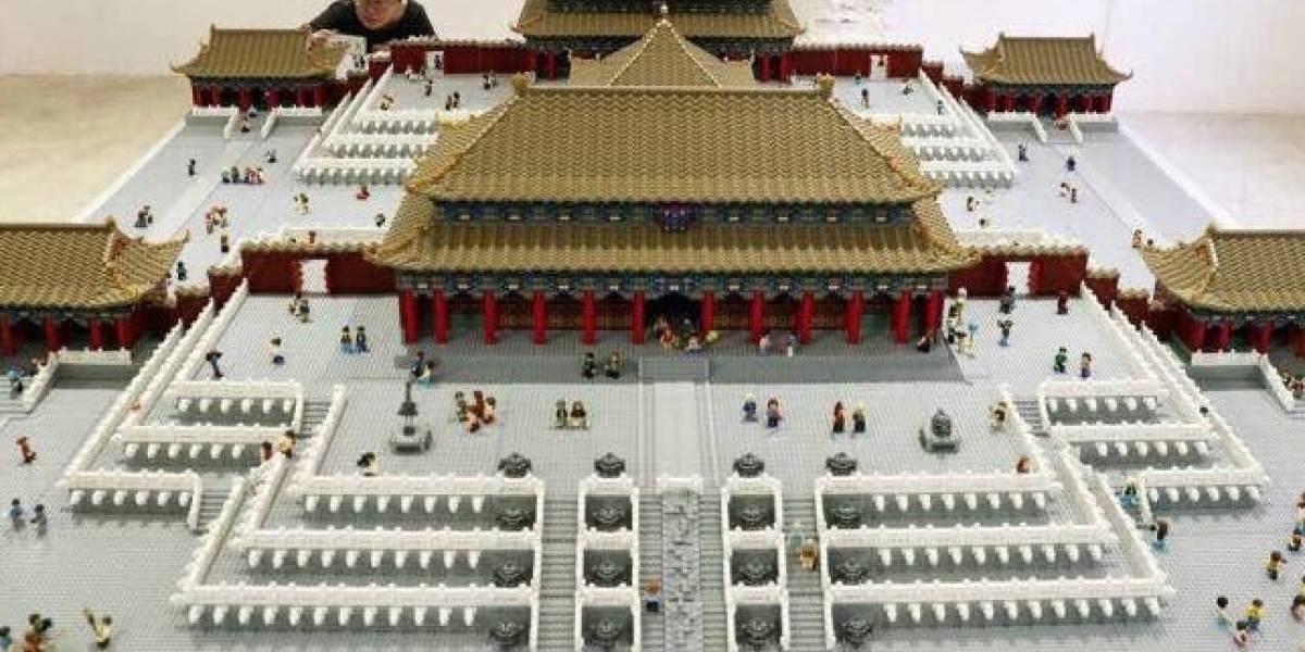 500.000 piezas de Lego recrearon la Ciudad Prohibida de Pekín