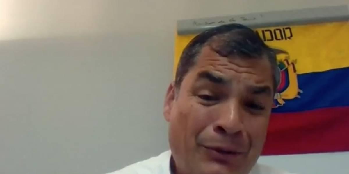 Rafael Correa realizó el tercer enlace digital