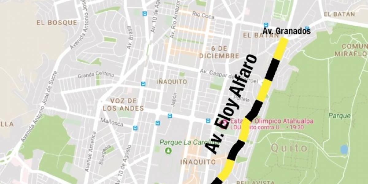 5 km serán rehabilitados en la Av. Eloy Alfaro