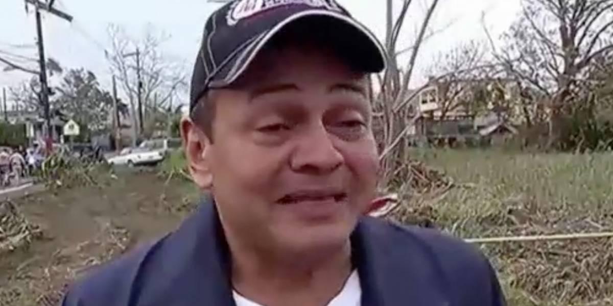 Alcalde de Añasco llora mientras relata cómo trabajan en su pueblo
