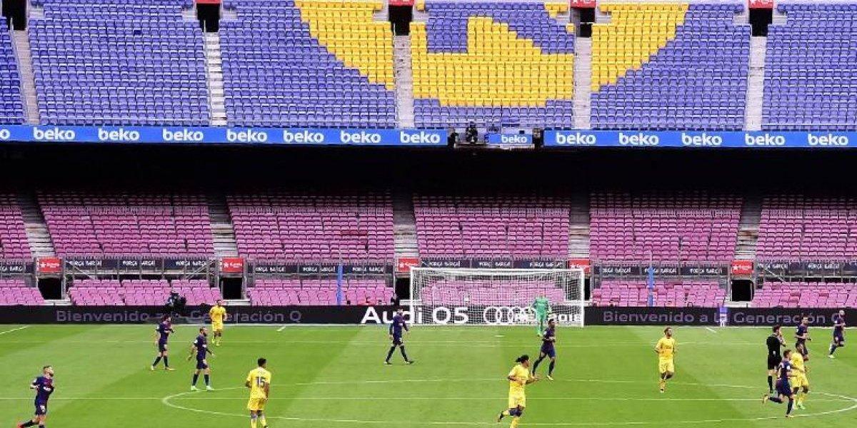 Barcelona juega a puerta cerrada en señal de protesta
