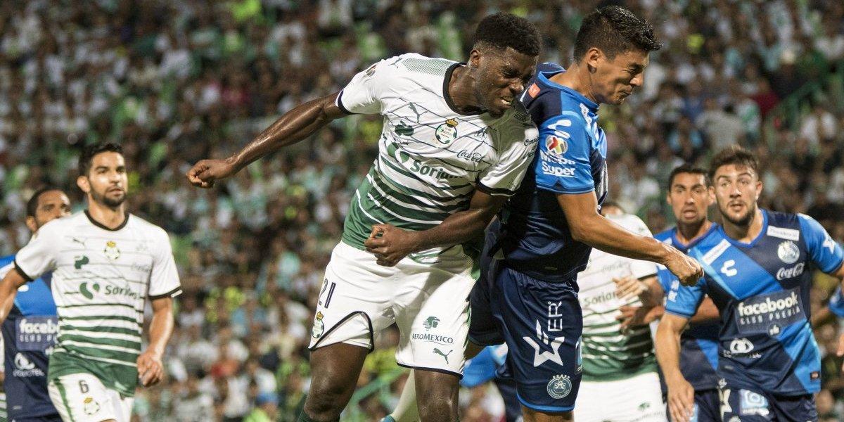 Santos y Puebla empatan sin goles en cierre de la fecha 12 de la Liga MX