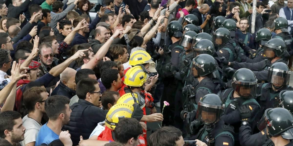 Más de 300 heridos en altercados en el referéndum de Cataluña