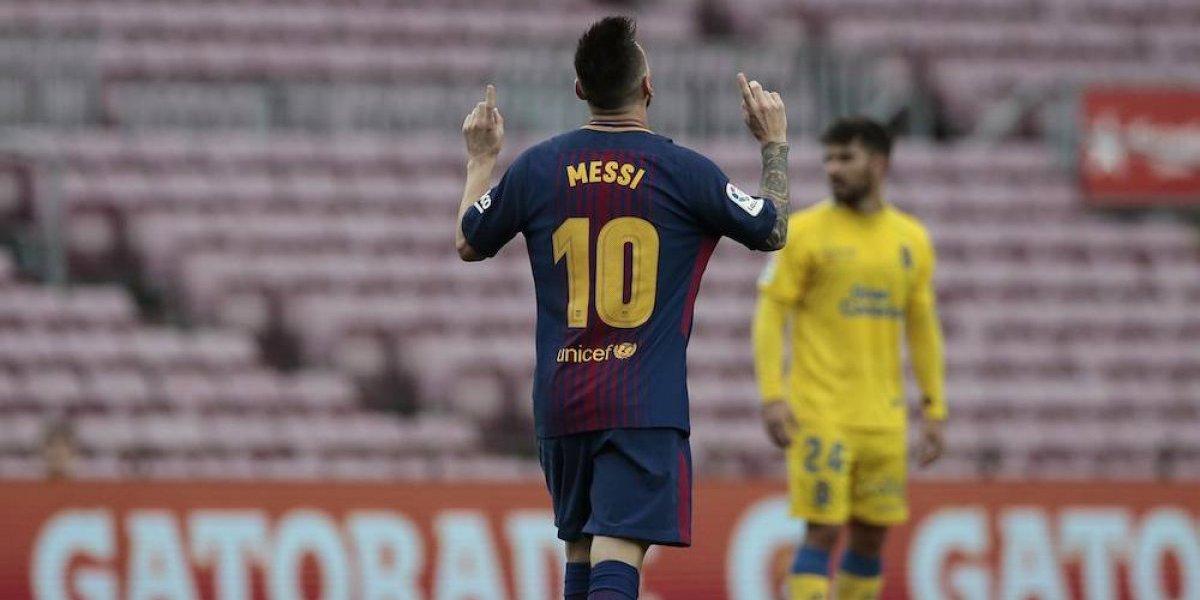 Barcelona golea a Las Palmas en un silencioso Camp Nou