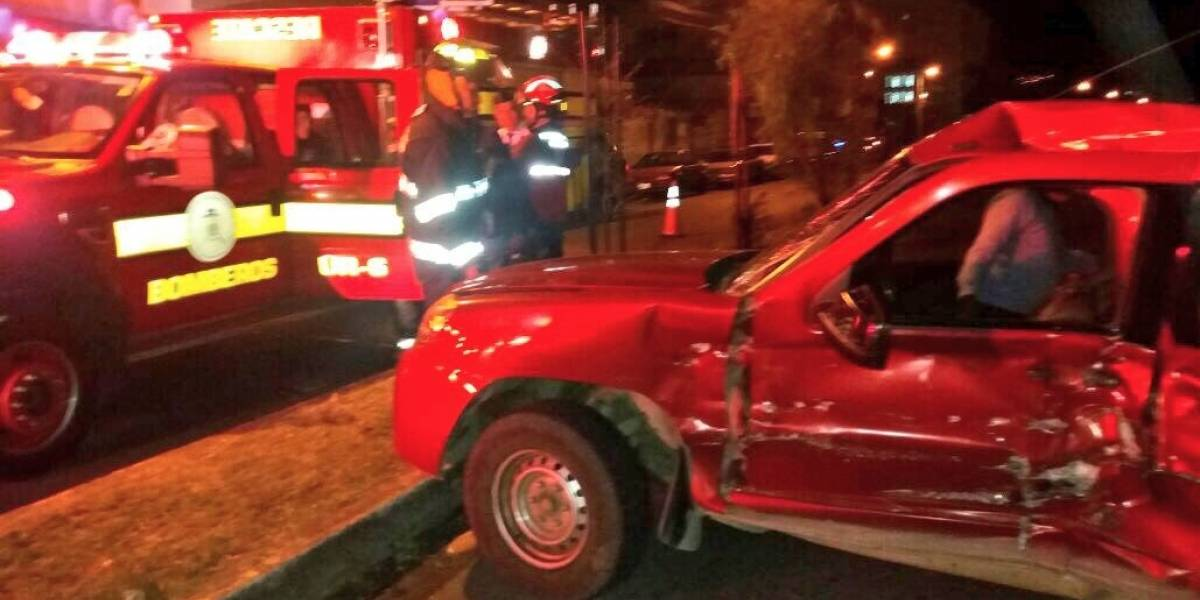 Se registró accidente de tránsito en sector Quitumbe