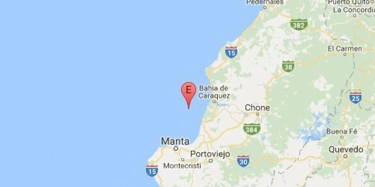 Sismo de 4.3 se registra en Bahía de Caráquez, Manabí