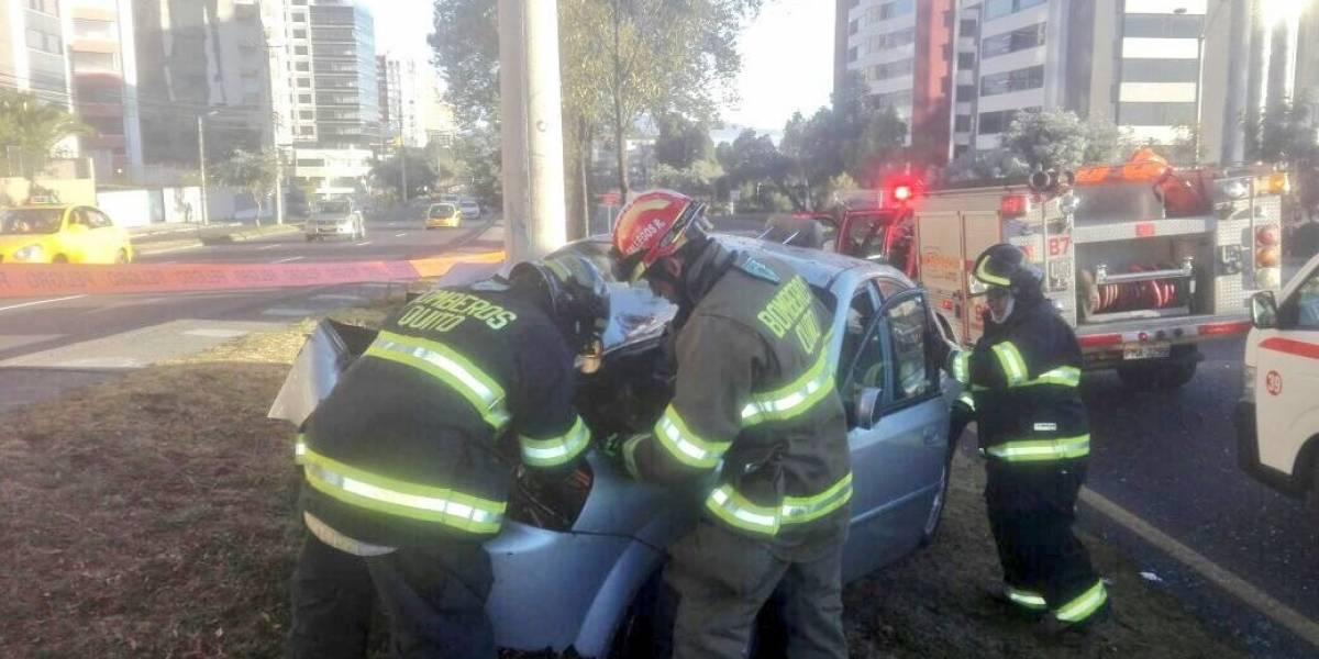Se registra un accidente en Av. Mariscal Sucre, sector el Bosque, Quito