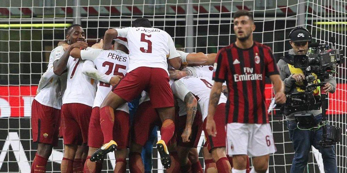 La Roma saca al Milán de los puestos europeos