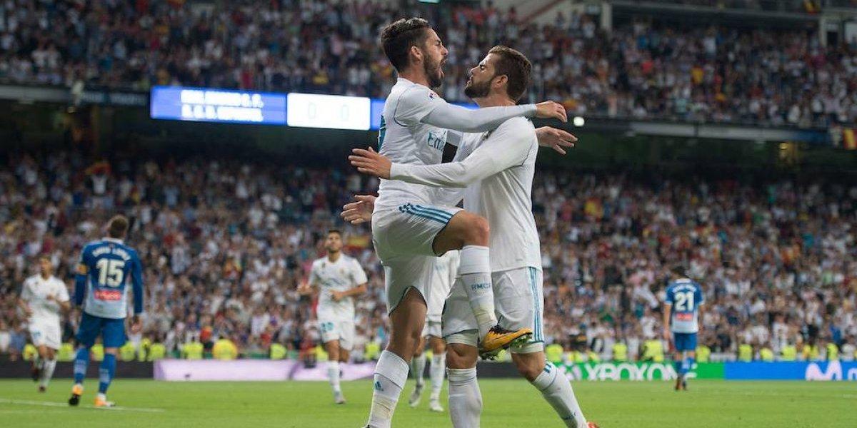 Real Madrid consigue su primer triunfo como local en la Liga española