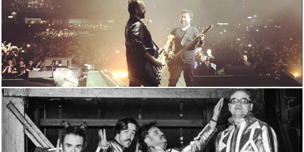 Molotov y Café Tacvba fuera del concierto Estamos Unidos Mexicanos