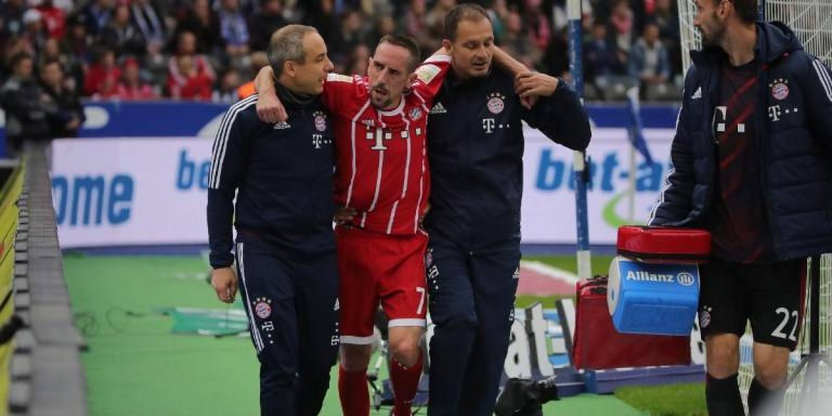 La nube negra no suelta al Bayern de Vidal: Ribery queda tres meses fuera de las canchas