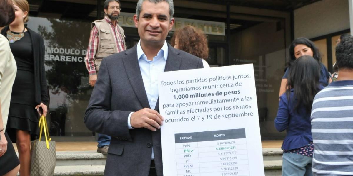 Ochoa acusa a Anaya de hacer cochinito con recursos de damnificados