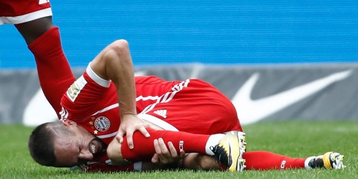 El Bayern Múnich confirma la gravedad de la lesión de Ribéry