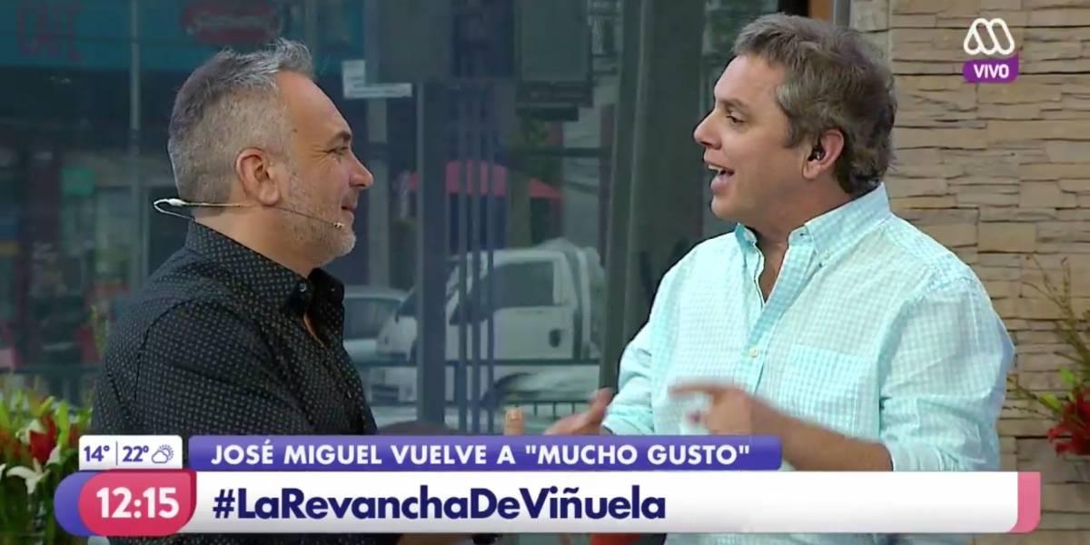 """Así fue el esperado regreso de José Miguel Viñuela al """"Mucho Gusto"""""""