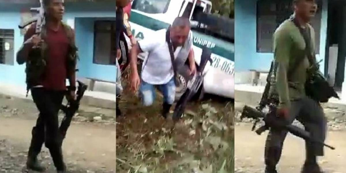 Buscan a quienes robaron a los policías asesinados en el Cauca