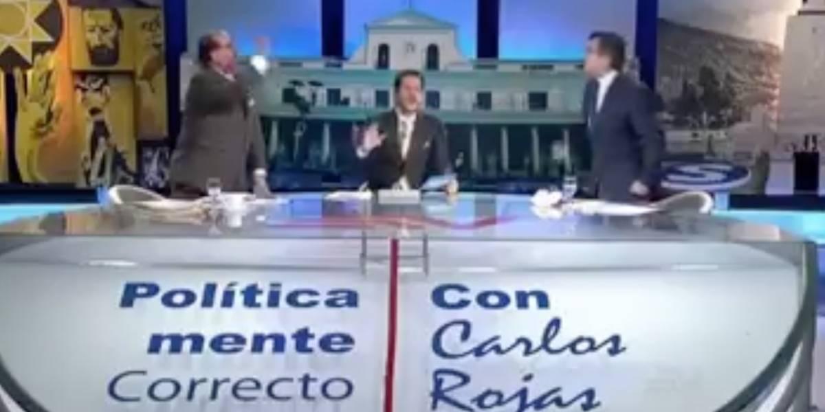 César Montúfar y Eduardo Franco, abogado de Glas, se gritan en plena transmisión