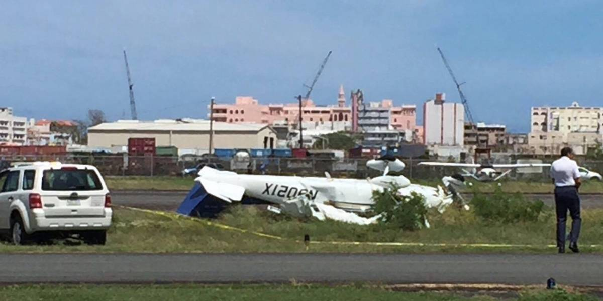 Estable perjudicados en accidente aéreo en Isla Grande
