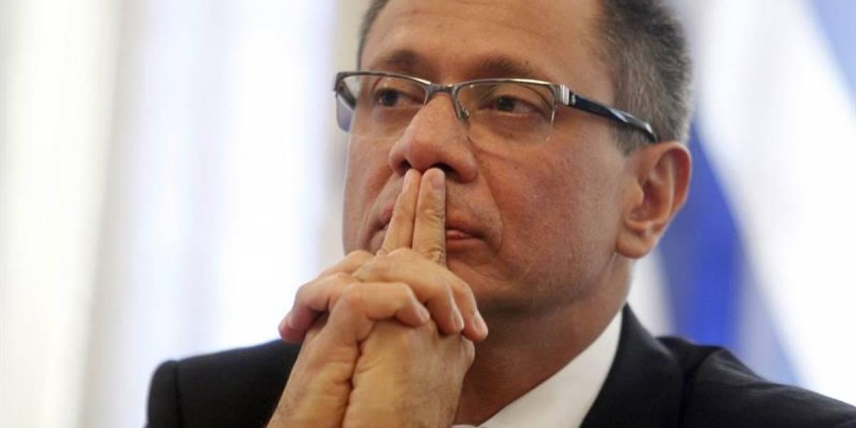 Jorge Glas usará vacaciones mientras dura prisión preventiva
