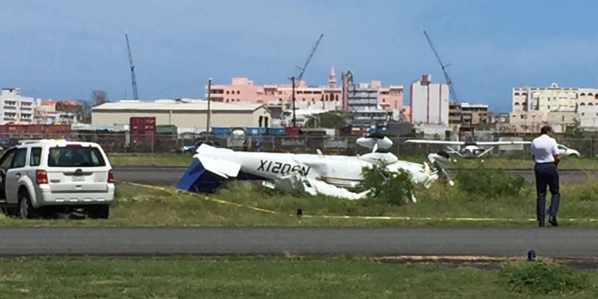 Trasladan al hospital dos heridos de avioneta estrellada