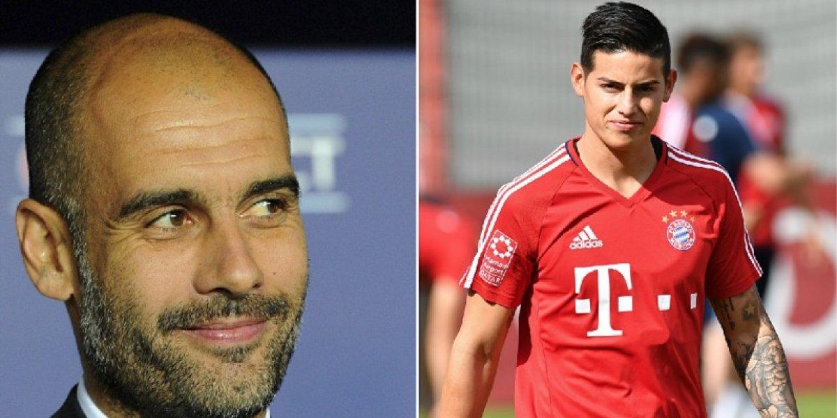 Tal parece que Guardiola será quien elija el próximo entrenador de James