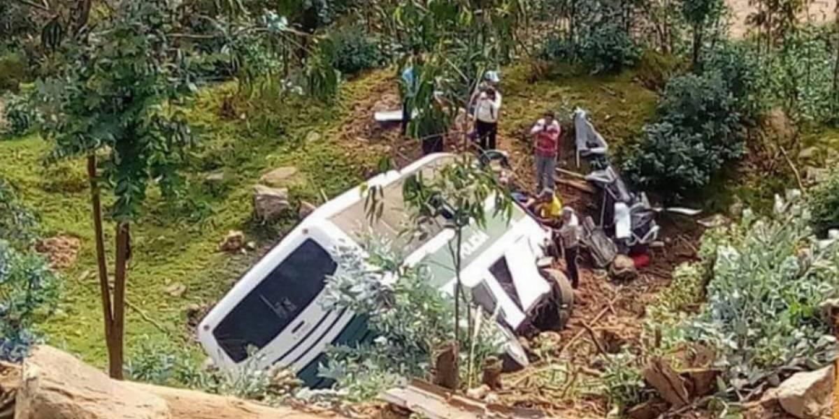 ¡Atención! Grave accidente de bus en vía Bogotá-Fusa