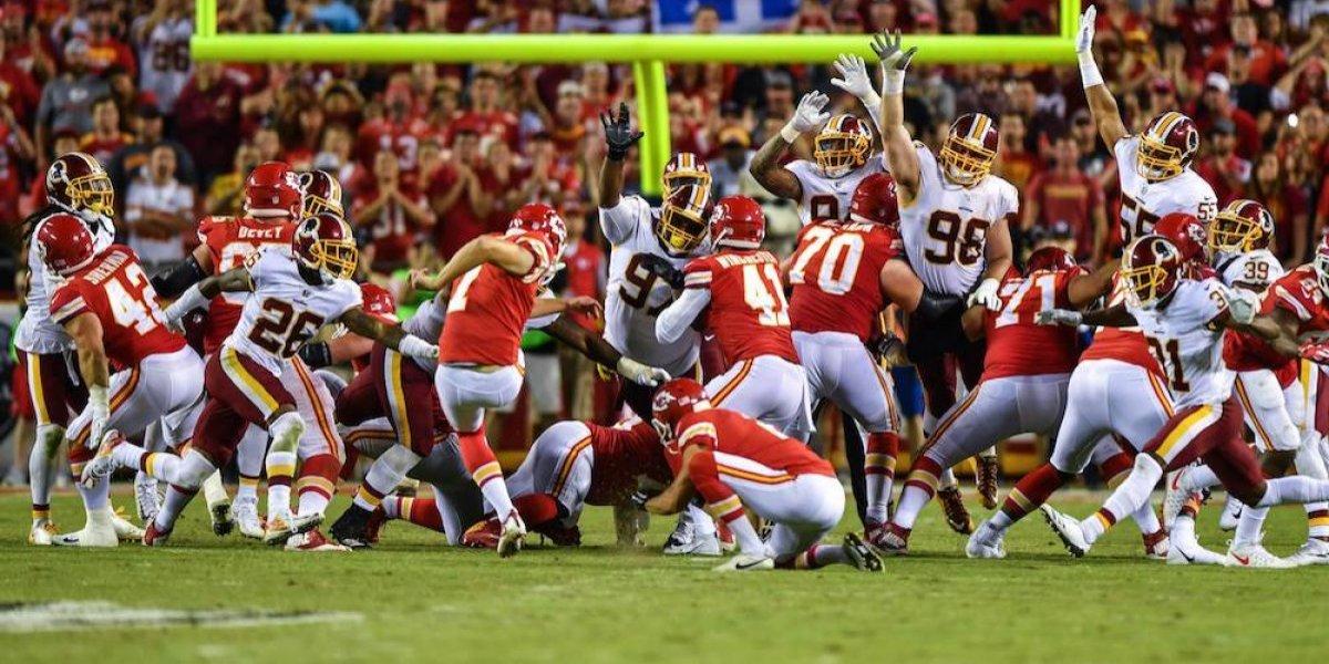 Chiefs se imponen a Redskins y siguen invictos en la NFL