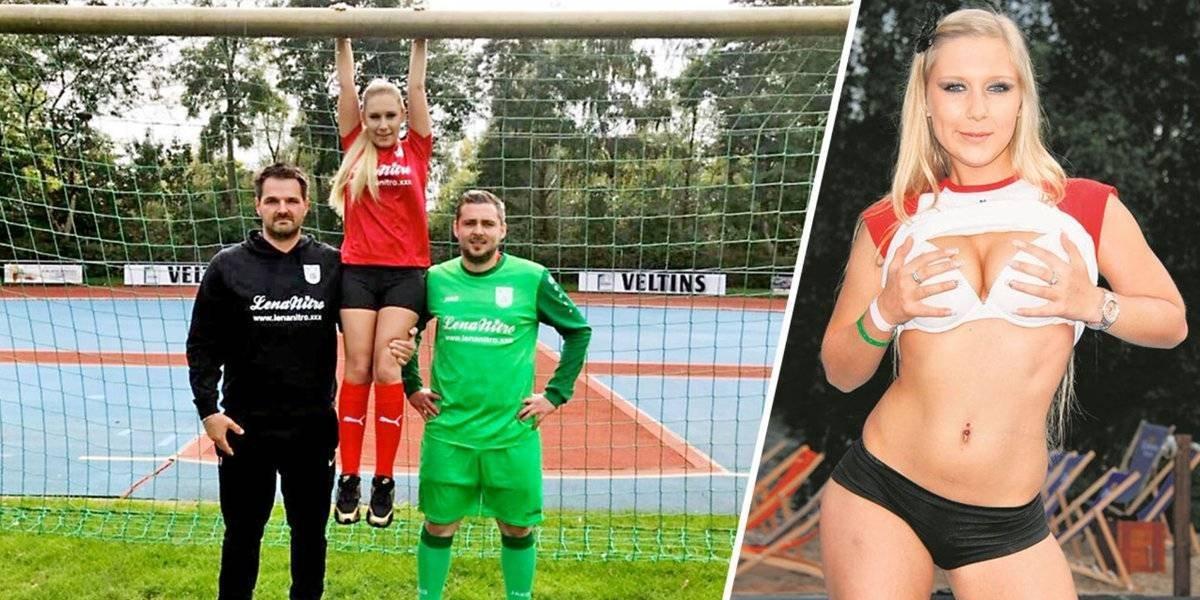 Actriz porno patrocinará a equipo de futbol alemán
