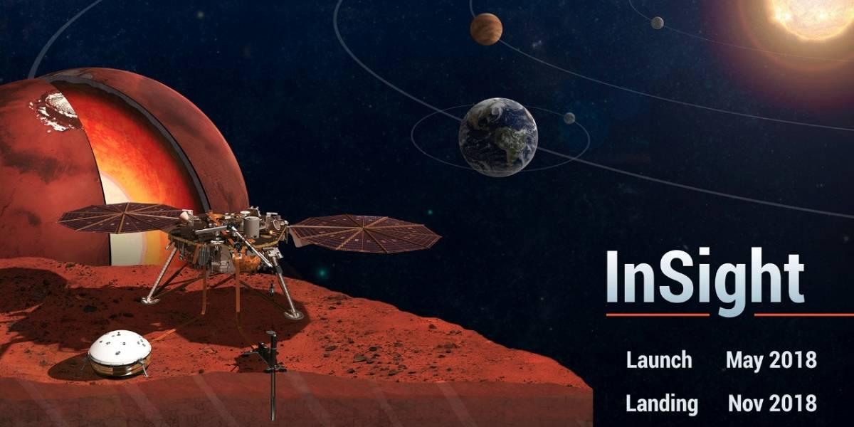 Envía tu nombre al planeta Marte a bordo de la nave espacial InSight