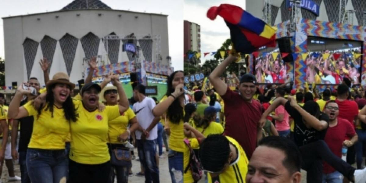 Checo Acosta, Mr. Black y Twister en el Fanfest del partido Colombia Vs Paraguay